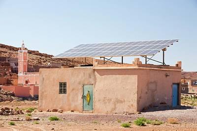 Solar Panels On A House Roof Art Print