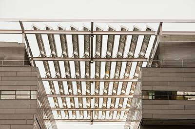 Blocks Panel Photograph - Solar Panels On The Alan Turing Building by Ashley Cooper