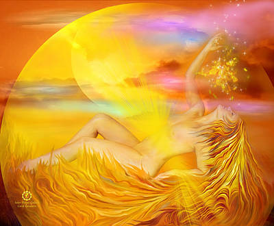 Mixed Media - Solar Plexus Goddess by Carol Cavalaris