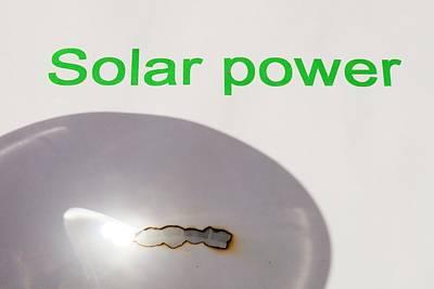 Renewable Energy Photograph - Solar Power by Ashley Cooper