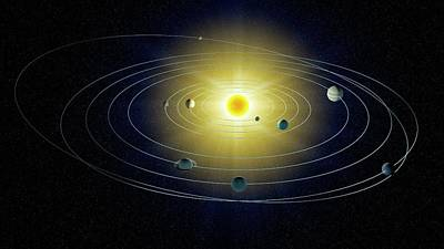 Digital Art - Solar System, Artwork by Andrzej Wojcicki
