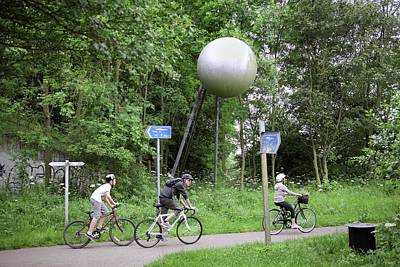 Selby Photograph - Solar System Themed Cycle Route by Martin Bond