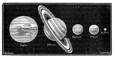 Neptune Wall Art - Photograph - Solar System's Outer Planets by Science Photo Library