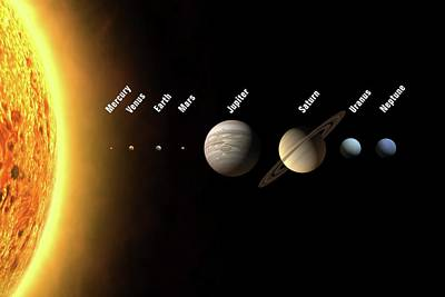 Definition Photograph - Solar System's Planets by Science Photo Library