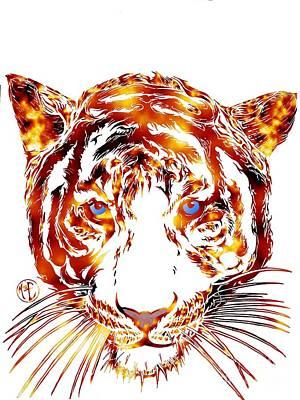 Solar Tiger Art Print by Justin Moore