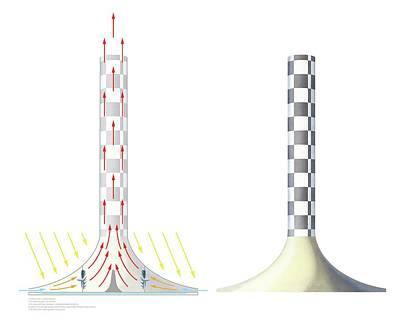 Solar Updraft Tower Art Print
