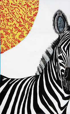 Painting - Solar White Zebra by Patrick OLeary