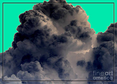 Photograph - Solarized Cloud by Rose Santuci-Sofranko