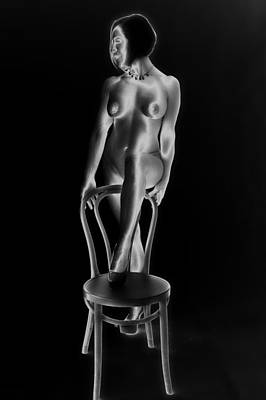 Breasts Photograph - Solarized Nude by Hugh Smith