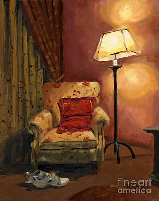 Painting - Sold - And Sit Right Down by Nancy  Parsons