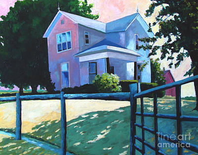 Sold Childhood Home Comissioned Work Art Print