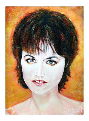 Bono Painting - Dolores O Riordan Cranberries by Liam O Conaire
