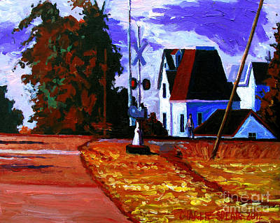 Sun Rising Painting - Sold Early Riser by Charlie Spear