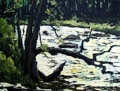 Sold Eel River From The Sandbar Art Print by Charlie Spear