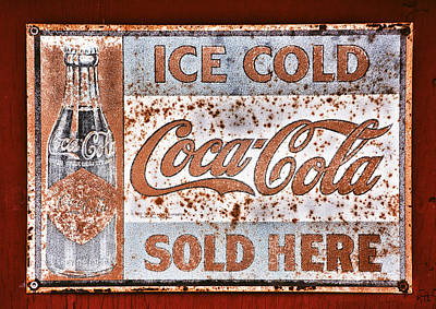 Historical Signs Photograph - Sold Here by Karol Livote
