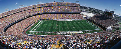 Daytime Photograph - Sold Out Crowd At Mile High Stadium by Panoramic Images