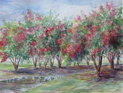 Painting - Sold Southern Crepe Myrtles by Gloria Turner