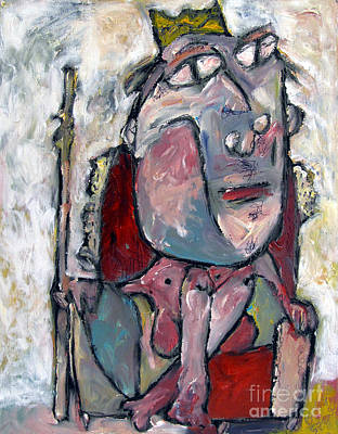 Masonite Painting - Sold The Naked King 2008 by Charlie Spear