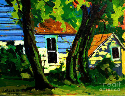 Old Street Painting - Sold Under The Sugar Maples  by Charlie Spear