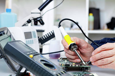 Soldering Equipment And Electronic Parts Art Print by Wladimir Bulgar