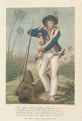 Soldier And A Dead Native Print by British Library