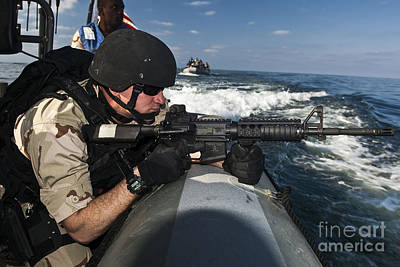 Inflatable Photograph - Soldier Assumes A Ready-to-fire by Stocktrek Images