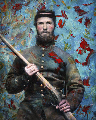 Retro Painting - Soldier Fellow 2 by James W Johnson