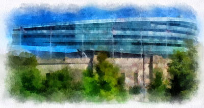 Soldier Field Digital Art - Soldier Field Chicago Photo Art 01 by Thomas Woolworth