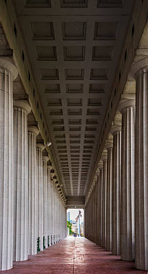 Soldier Field Photograph - Soldier Field Colonnade by Steve Gadomski