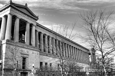 Soldier Field In Black And White Art Print by David Bearden