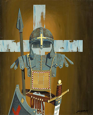 Painting - Soldier For The Cross by John Wyckoff
