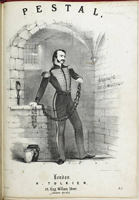 Melton Photograph - Soldier In Chains In A Prison Cell by British Library