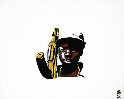 Ak47 Painting - Soldier Of Misfortune by Sait