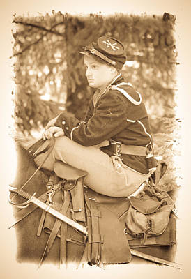 Photograph - Soldier On Horse by Steve McKinzie