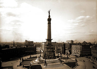 Indianapolis Drawing - Soldiers And Sailors Monument, Indianapolis, Ind, Monuments by Litz Collection