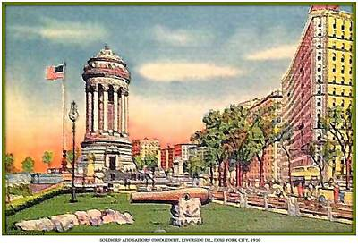 Painting - Soldiers' And Sailors' Monument- Riverside Dr.- New York City- 1910 by Dwight Goss