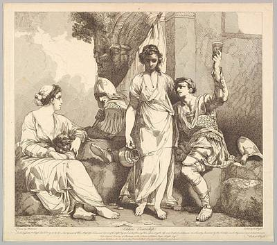 Soldiers Courtship From The Life Art Print by Etched and published by Robert Blyth