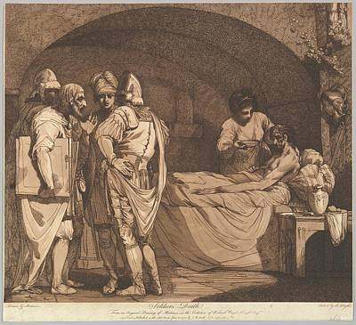 Soldiers Death From The Life And Death Art Print by Etched and published by Robert Blyth