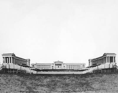 Soldier Field Photograph - Soldiers' Field And Museum by Underwood Archives
