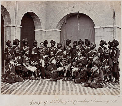 Soldiers Of The 2nd Punjab Cavalry Art Print by British Library