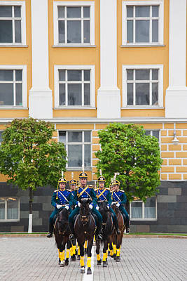 Soldiers Of The Presidential Regimental Art Print by Panoramic Images
