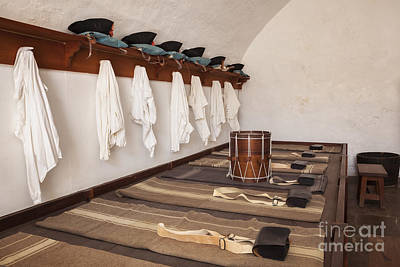 Clouds Rights Managed Images - Soldiers Sleeping Quarters at Castillo San Felipe Del Morro Royalty-Free Image by Bryan Mullennix