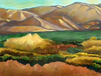 Mixed Media - Soledad Canyon Sunset by Karen Sperling