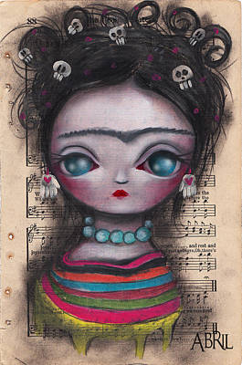 Pop Surrealism Painting - Soledad Frida by  Abril Andrade Griffith