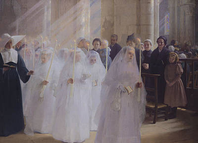 Rays Painting - Solemn Communion by Jules Triquet