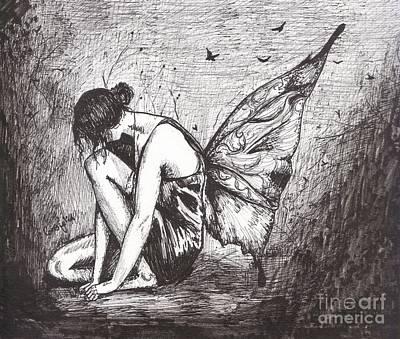 Solemn Fairy Art Print by Celia Fedak