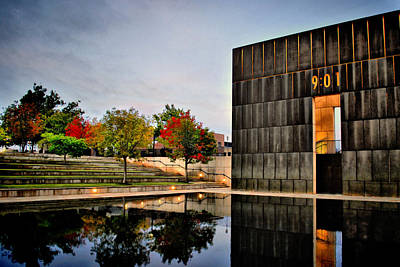 Photograph - Solemn Reflections - Okc Memorial by Gregory Ballos