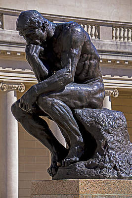 Rodin Photograph - Solemn Thinker by Garry Gay