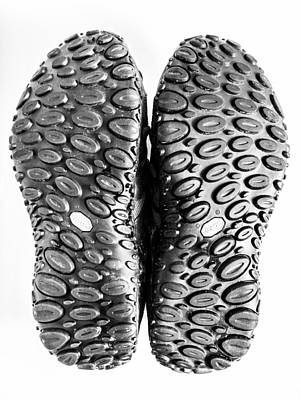 Photograph - Soles. by Gary Gillette