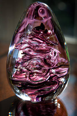 Paper Weight Glass Art - Solid Glass Sculpture E3 by David Patterson